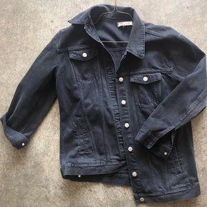 Madewell Washed Black Denim Jacket in M